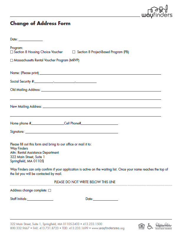 Delightful Change Of Address Form. Please Print ...  Change Of Address Printable Form